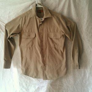 Men's S faux suede long sleeve shirt (2/$26)